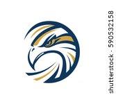 Circle Eagle Sea Hawk Logo...