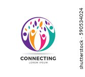 circle colorful community logo...