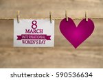 women's day card or background. | Shutterstock . vector #590536634