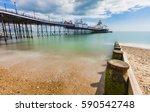 eastbourne pier in england... | Shutterstock . vector #590542748