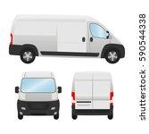 delivery van template for... | Shutterstock .eps vector #590544338