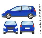 car vector template on white... | Shutterstock .eps vector #590545028