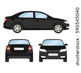 car vector template on white... | Shutterstock .eps vector #590545040