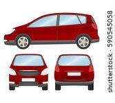 car vector template on white... | Shutterstock .eps vector #590545058