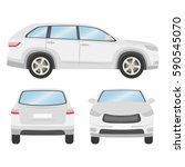car vector template on white... | Shutterstock .eps vector #590545070