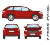 car vector template on white... | Shutterstock .eps vector #590545088