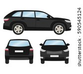 car vector template on white... | Shutterstock .eps vector #590545124