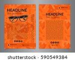 business brochure flyer design...   Shutterstock .eps vector #590549384