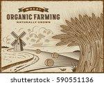 wheat organic farming landscape....   Shutterstock .eps vector #590551136