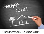 rent a house or home  ... | Shutterstock . vector #590559884