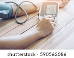 man is taking care for health...   Shutterstock . vector #590562086