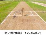cricket pitch wickets ground... | Shutterstock . vector #590563604