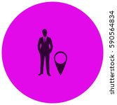 businessman with gps vector ...