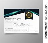 certificate premium template... | Shutterstock .eps vector #590566604