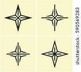 four point star icon. cross... | Shutterstock .eps vector #590569283