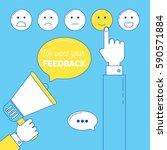 feedback emoticon scale. we... | Shutterstock .eps vector #590571884
