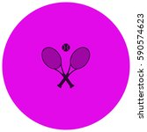 tennis vector  icon | Shutterstock .eps vector #590574623