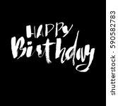 happy birthday lettering for... | Shutterstock .eps vector #590582783