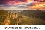 An image of the Tree Sisters Blue Mountains Australia sunset