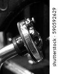 gramophone needle | Shutterstock . vector #590592629