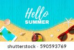 summer holiday web banner. top... | Shutterstock .eps vector #590593769