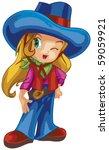 cute girl | Shutterstock .eps vector #59059921