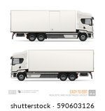 blank freight truck isolated... | Shutterstock .eps vector #590603126