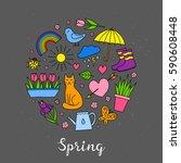 Hand Drawn Spring Items...