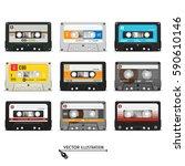 Set Of Retro Audio Cassettes....