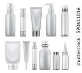 beauty product pack mockup set. ... | Shutterstock .eps vector #590611016