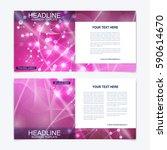 templates for square brochure.... | Shutterstock .eps vector #590614670