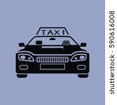 taxi icon isolated sign symbol... | Shutterstock .eps vector #590616008
