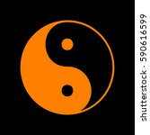 ying yang symbol of harmony and ... | Shutterstock .eps vector #590616599
