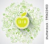vector concept of healthy heart.... | Shutterstock .eps vector #590623403