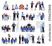 professional business life and... | Shutterstock .eps vector #590625848