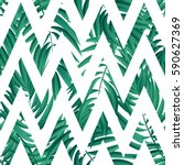 tropical palm leaf vector... | Shutterstock .eps vector #590627369