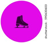 skates vector  icon | Shutterstock .eps vector #590630603