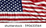 waiving in the wind flag of... | Shutterstock . vector #590633564
