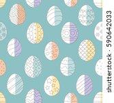 vector illustration  seamless... | Shutterstock .eps vector #590642033