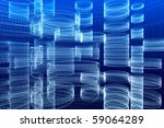 abstract 3d sketch of... | Shutterstock . vector #59064289