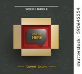 info speech bubble in a... | Shutterstock .eps vector #590643254