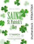 poster in the pub on st patrick'... | Shutterstock .eps vector #590647064