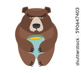 Bear And Honey Barrel. Cute...