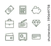 set of finance and money icons... | Shutterstock .eps vector #590649758