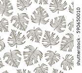 tropical seamless pattern with... | Shutterstock .eps vector #590650010