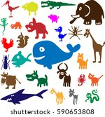 vector set of pets | Shutterstock .eps vector #590653808