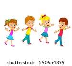 kids boys and girls are running ...   Shutterstock .eps vector #590654399