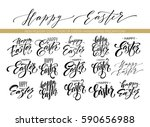 easter wishes overlays ... | Shutterstock .eps vector #590656988
