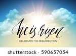 Stock vector he is risen easter background vector illustration eps 590657054