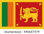 sri lanka flag vector   Shutterstock .eps vector #590657579